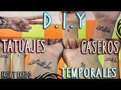 DIY: COMO HACER TATUAJES TEMPORALES   FÁCIL y RÁPIDO