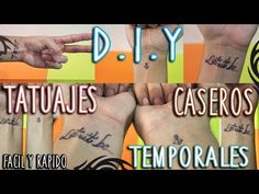 DIY: COMO HACER TATUAJES TEMPORALES | FÁCIL y RÁPIDO