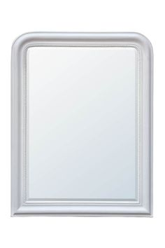 A chic, white frame on this handsome mirror from our Louis Phillippe collection gives it an understated yet highly sophisticated look, making it perfect for pairing with all styles of décor. The dainty pearls around the edge give this mirror a subtle hint of soft, feminine charm. Try hanging this mirror on the wall above your dressing table or chest of drawers in the bedroom, or above the fireplace for a stylish overmantle mirror.A white bevelled mirror with beading on the frame and arched…