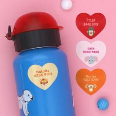 Personalised Sticker Name Label for Baby Bottles Nursery Toys Play School Babies