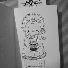 #inktober #inktoberkostolom3000 #ink #pen #penart #bear #happynewyear #Christmas #tree #character #art #artwork #artoftheday #illustration #draw #berry #jam #drawing #cuteart #cutie #kostolom3000 #AnnaAlekseeva
