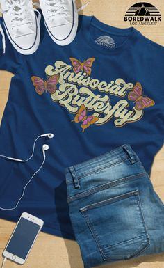 00833c19c99936 Men s Antisocial Butterfly T-Shirt. Boredwalk