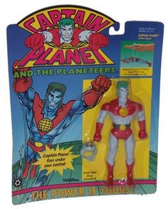 Captain Planet Flying Action Tiger Toys 1991
