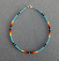 BL Turquoise Bead Anklet Ankle Bracelet Native American