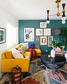 Love this gallery wall by Dabito Living Room Inspiration, Home Decor Inspiration, Design Inspiration, Creative Inspiration, Home Living Room, Living Room Designs, Living Room Decor, Colourful Living Room, Blog Deco