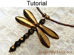 Beading Tutorial Pattern - Jewelry Making Beaded Necklaces - Simple Bead Patterns - Dragonfly Necklace Dragonfly Necklace PDF Beading Pattern Make a beautiful dragonfly necklace with this simple beading Beaded Dragonfly, Dragonfly Necklace, Dragonfly Pendant, Beaded Bead, Lariat Necklace, Wire Jewelry, Jewelry Crafts, Jewelery, Handmade Jewelry