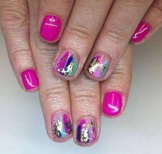 Shellac nails, nail polish, colorful nail art, colorful nail designs, gel n Get Nails, How To Do Nails, Hair And Nails, French Nails, Nail Swag, Nagel Hacks, Gel Nails At Home, Super Nails, Nagel Gel