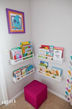 Love this reading nook (and the whole nursery for that matter)