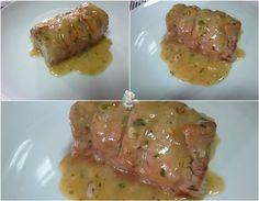 Solomillo de cerdo con salsa al orégano #recetasespañolas