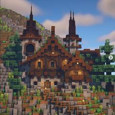 Minecraft Farm, Minecraft Blocks, Minecraft Cottage, Minecraft Castle, Minecraft Medieval, Cute Minecraft Houses, Minecraft Funny, Minecraft Survival, Minecraft Construction