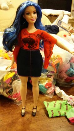 Redressed Curvy Barbie Fashionista