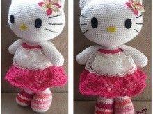 Kittylina - by Katharina Münch - free crochet instructions Crochet Crafts, Crochet Dolls, Yarn Crafts, Crochet Baby, Crochet Projects, Free Crochet, Hello Kitty Amigurumi, Hello Kitty Crochet, Badtz Maru