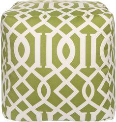 Surya POUF-110 Lime Green Lattice Pouf - GiiStores.com