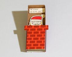 Drôle carte de Noël / Santa Holiday Greeting Card / par 3XUdesign