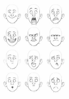 Expresiones manga chico/a emotion faces, drawing cartoon faces, cartoon characters sketch, Cartoon Characters Sketch, Drawing Cartoon Faces, Drawing People Faces, How To Draw Characters, Cartoon Sketches, Drawing Cartoons, Character Drawing, Character Sketches, Art Sketches