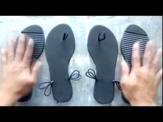Manualidades Chanclitas tejidas cn suela reciclada - YouTube
