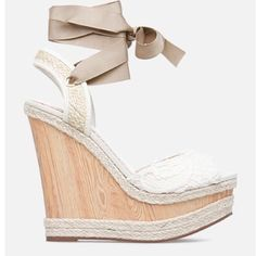 Brand new in box platform ballerina wedges! These wedges are so feminine and unique, still in wrapping! Brand new! Make me an offer! JustFab Shoes Wedges