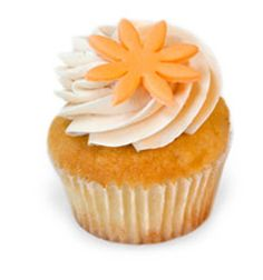 Vanilla cupcake with a passion fruit filling and vanilla buttercream frosting from Kara's Cupcakes in Oxbow Public Market #dessert #cupcakes