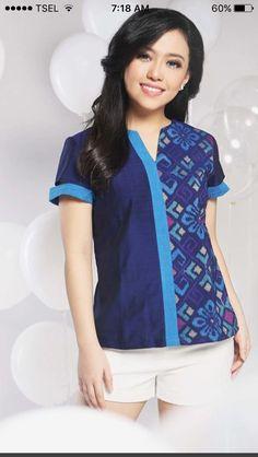 Batik Blazer, Blouse Batik, Batik Dress, Batik Kebaya, Batik Fashion, Ethnic Fashion, Womens Fashion, Blouse Designs, Kurta Designs