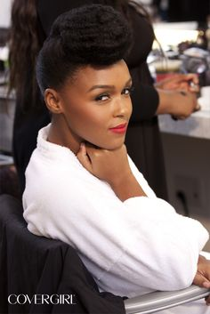 Snapped backstage at COVERGIRL Janelle Monáe's first COVERGIRL Photo Shoot. Get the look with COVERGIRL LipPerfection Lipcolor™ in Hot. http://www.covergirl.com/lipperfectionlipcolor