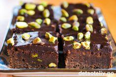 Brownies med pistasjnøtter | Det søte liv