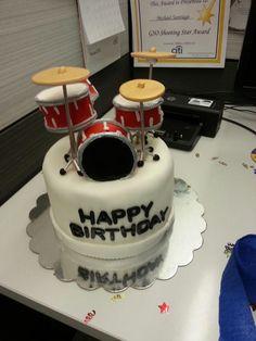 Drum set fondant cake!