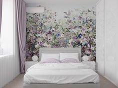 Modern wallpaper design ideas for bedroom wall decoration 2019 - Houses interior designs Wallpaper Design For Bedroom, Modern Wallpaper Designs, Home Interior, Home Decor Bedroom, Interior Design Living Room, Bedroom Modern, Rideaux Design, Sweet Home Design, Deco Design