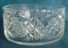 Starr Crystal Highly Cut Lead Crystal Fruit Bowl with Original Sticker Legacy Antiques and Collectibles Ltd Stickers, Fruit, Crystals, The Originals, Antiques, Antiquities, Antique, Crystal, Old Stuff