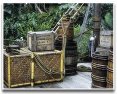 They are literally littered throughout all of the Disney parks, and Imagineers just love to label them with inside jokes and clever references. Jungle Cruise Disneyland, Adventure Bar, Tiki Bar Decor, Disneyland Secrets, Tiki Lounge, Campaign Furniture, Disney Designs, Tiki Room, Jungle Party