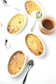 Coffee Caramel Creme Brûlée. The coffee caramel sauce is made separately, and we would probably change that recipe just a bit. Lovely for a dinner/party.
