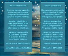 SEREI TUA ETERNAMENTE // AMADO AMOR AMANTE - INSP. ZECA, ARTES E DUETO COM MARSOALEX - OBRIGADA, MEUS AMORES LINDOS!!! BEIJOS! - Encontro de Poetas e Amigos