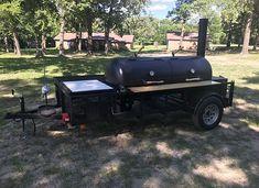 The best custom BBQ trailers and smokers built in Texas Backyard Bbq Pit, Backyard Smokers, Custom Bbq Smokers, Custom Bbq Pits, Bbq Smoker Trailer, Bbq Pit Smoker, Outdoor Bbq Kitchen, Hawaiian Bbq, Texas Bbq