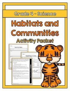 """The """"Habitats and Communities"""" activity packet is aligned with the Ontario Grade… Science Curriculum, Science Resources, Science Lessons, Teaching Science, Science For Kids, Earth Science, Science Activities, Teacher Resources, Kids Mindfulness"""