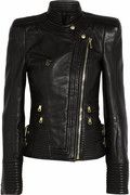 Balmain - Leather Biker Jacket $6,339.97 - Give every look a rebel-cool twist with Balmain's biker jacket. Crafted from super soft black leather, this strong-shouldered style will last you a lifetime.