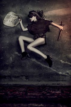 Floor-Posed Fashion Ads