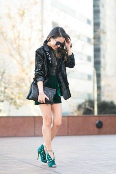 Holiday Textures :: Embellished blazer & Velvet shorts