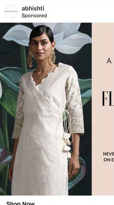 Angrakha Style, White Dress, Dresses, Fashion, Vestidos, Moda, Fashion Styles, Dress, Fashion Illustrations