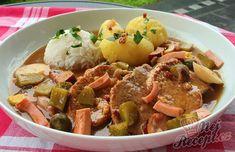 Potato Salad, Pork, Food And Drink, Cooking Recipes, Potatoes, Menu, Treats, Chicken, Ethnic Recipes