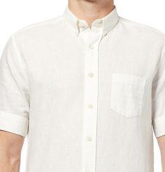AMI Linen & Cotton-Blend Shirt
