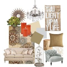 Living room: Rustic meets traditional My entry way paint color love the burlap connection Eclectic Living Room, Home Living Room, Living Room Decor, Interior Design Boards, Maura, Outdoor Furniture Sets, Family Room, New Homes, Decorating Ideas