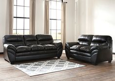 Tassler DuraBlend Black Sofa and Loveseat