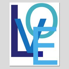 LOVE - 8x10 Large Scale Modern Typography Print - Wall Art for Home or Nursery - Choose Your Colors