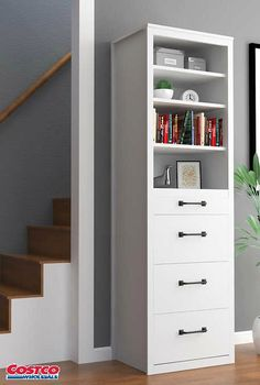 The Brisbane Side Tower Cabinet is a beautiful addition to the wall bed or an elegant stand alone item that's perfect for storage in hallways, dens, foyers, as well as bedrooms. It comes with adjustable shelves and a clothes rod so you can use it for clothing or general storage. Three large drawers underneath, as well as a convenient pullout tray, round out this versatile and gorgeous storage cabinet.