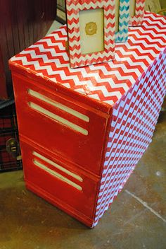 The Daily Uptown Country:  Chevron Filing Cabinet