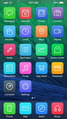 iOS 7 Redesign by Michael Boswell. Some Very Creative iOS 7 Redesigns. #iOS7 #apple #mobile #app #UI
