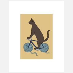 "Cat On A Bike by Pussies on Parade ""Feline Fantasy Artwork"""