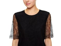 Lace Sleeve Top by Adam- understated elegance