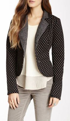 Free People Diamond Dot Blazer