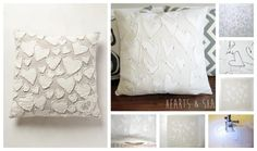 You can spend nearly $200 on the original, or make your own white-on-white heart pillow, as done here.