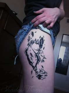 with Grimmjow Bleach Tattoo, Comic Book Tattoo, Believe Tattoos, Body Is A Temple, Anime Tattoos, Body Modifications, Beautiful Tattoos, Different Styles, Tatting